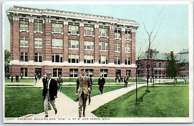 1910s University of Michigan Postcard CHEMICAL BUILDING &
