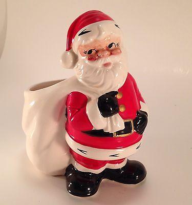 ADORABLE Vintage Inarco Japan Santa Claus Planter E4446 Christmas
