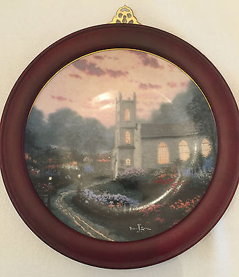 Thomas Kinkade Blossom Hill Church Plate-with frame-Numbered