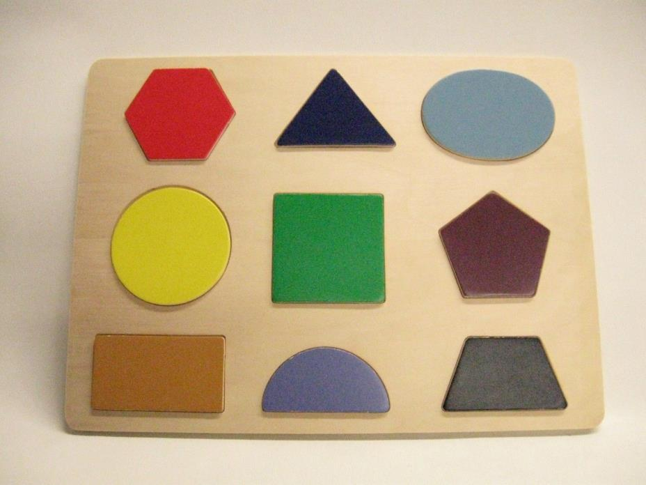 Kid's Wooden Learning Shapes Puzzle Board