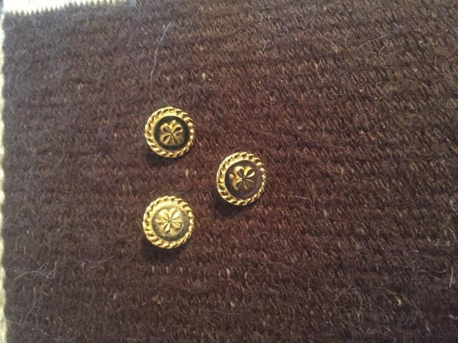 CHANEL GOLDTONE SHAMROCK BUTTON 12MM ONE BUTTON ONLY