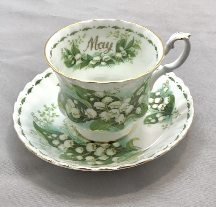Royal Albert  MAY flower of the month lily-of-the-valley cup and saucer