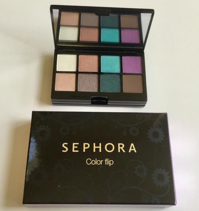 Sephora Color Flip Mini Make Up Palette Lip Gloss Eye Shadow Blush Bronze Travel