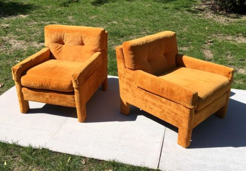 Milo Baughman for Directional Club Chairs - Pair