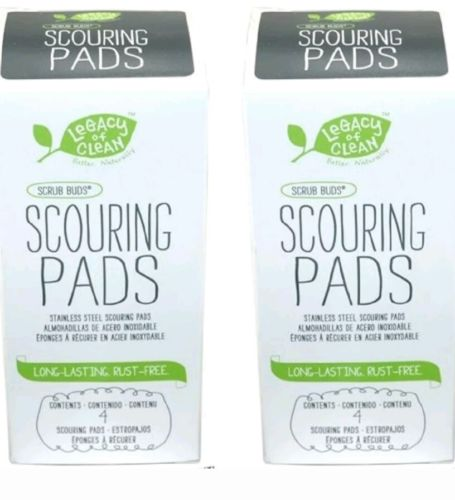 Amway Legacy Of Clean Scrub Buds Scouring Pads (2 Boxes for a Total of 8 Pads)