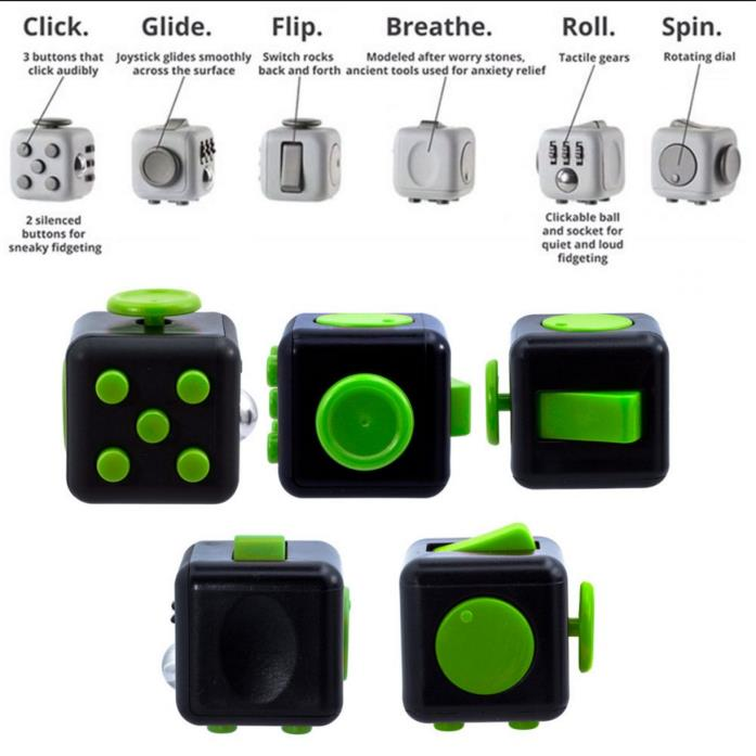 Fidget Cube Anxiety Stress Relief Better Focus Toys with box FREE FAST SHIPPING