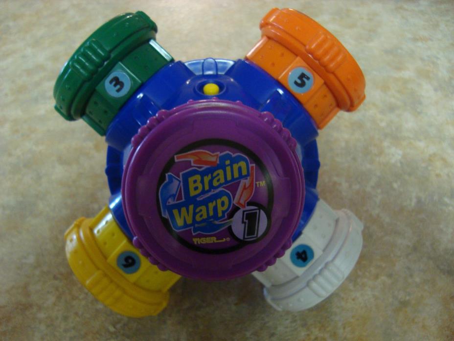 Brain Warp Tiger Electronics Handheld Memory Game Vintage 1996 WORKS Great !