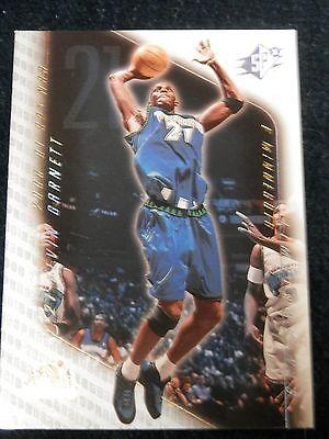 2000-01 Upper Deck SPX Basketball Kevin Garnett Sample Card