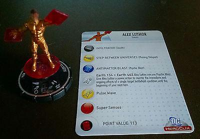 Alex Luthor #054 SR Crisis Heroclix set with card super rare Earth-Three