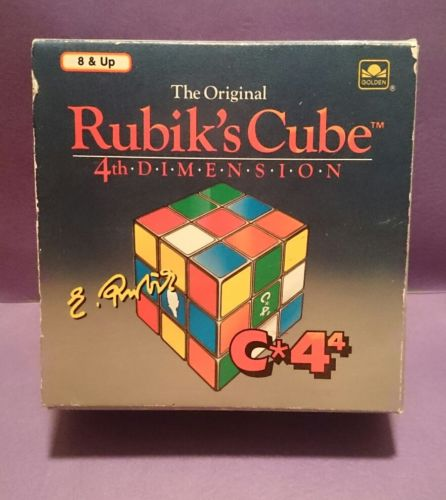 NEW in opened box the original Rubik's Cube 4th dimension MA-400 41200 vintage