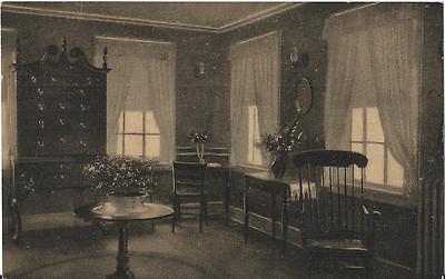 Postcard MA Shelburne Falls Sweet Heart Tea House Ladies Writing Rm Franklin 20s