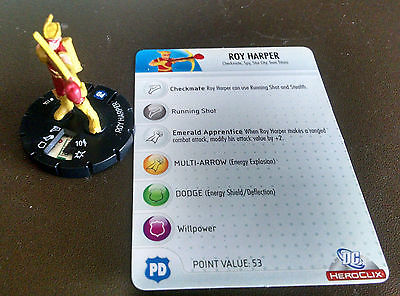 Roy Harper #103 LE Crisis Heroclix set with card Speedy