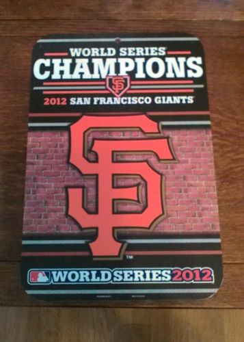 RARE SAN FRANCISCO GIANTS 2012 WORLD SERIES SF CHAMPIONS SIGN CHAMPS 11x17