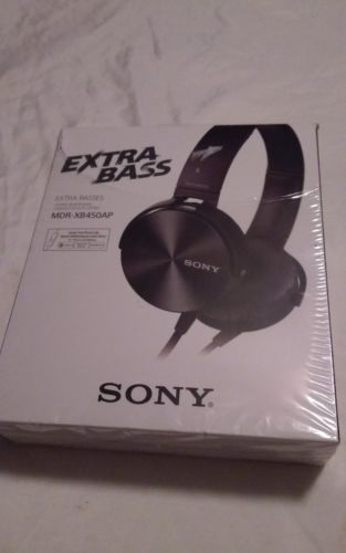 Sony MDR-XB450AP Extra Bass Smartphone Stereo Headphones - Genuine - BLACK -NEW