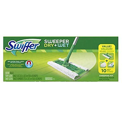 Sweeper Cleaner Dry and Wet Mop Starter Kit for Cleaning Hardwood Floors