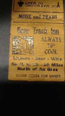 vintage Au Gres Michigan matchbook