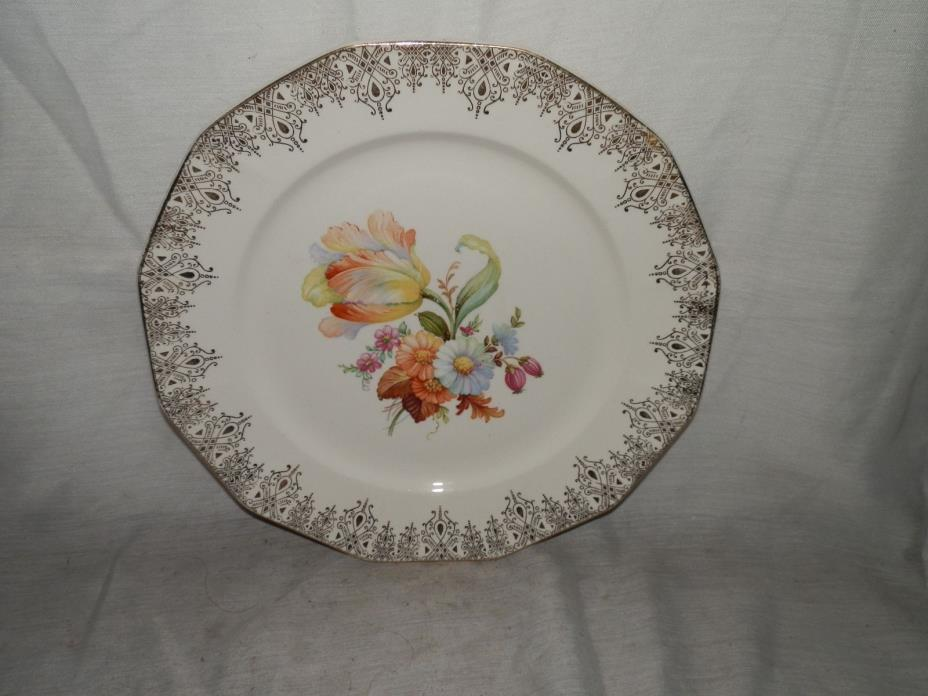Vintage,1940's, Royal China,Waldorf,12-36,22-K Gold,9 1/4
