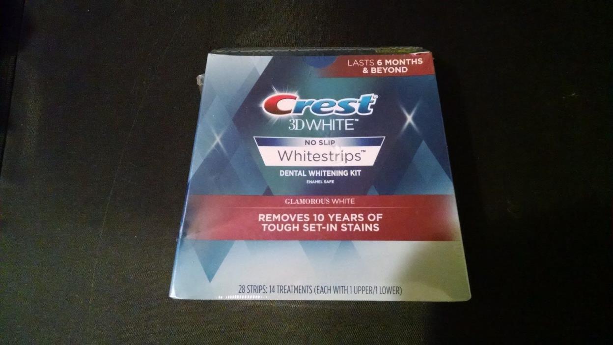 Crest 3D White - No Slip Whitestrips Glamorous White 28 Strips Exp. 10/18