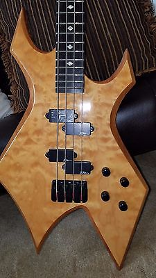 BC RICH WARLOCK BASS NJ SERIES Natural Quilt top