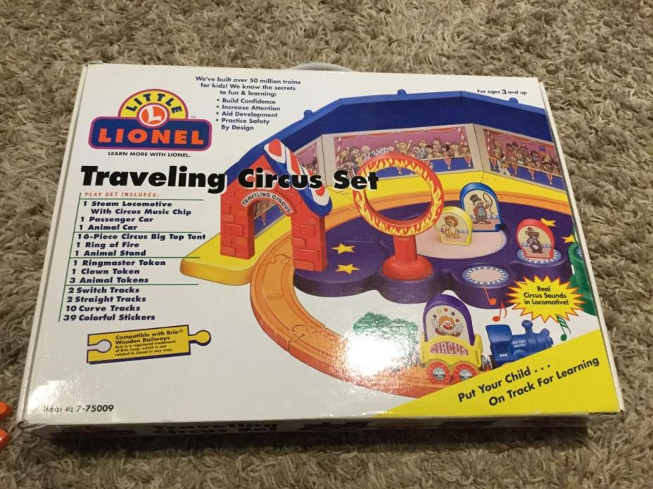 2000 Lionel Preschool TRAVELING CIRCUS SET Train 7-75009