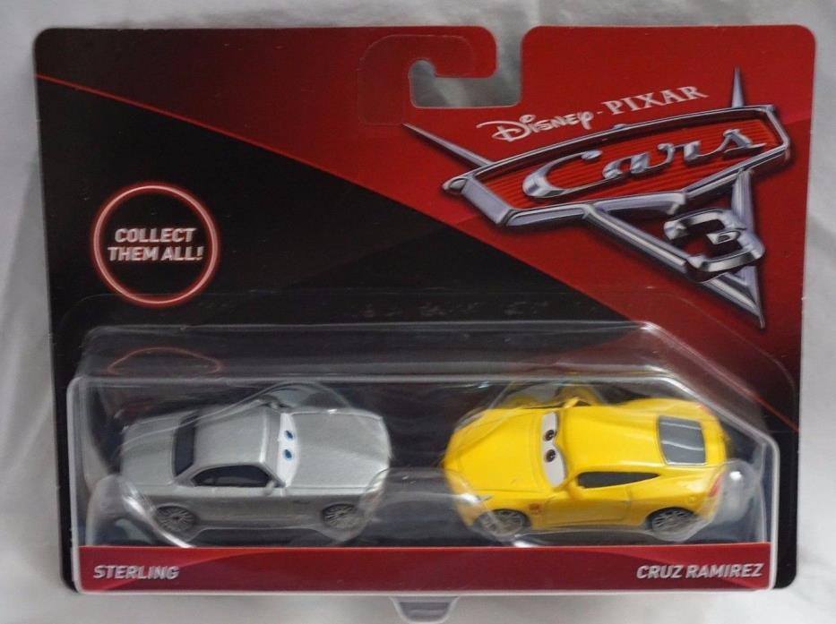 Disney Pixar Cars 3 Sterling & Cruz Ramirez Die Cast Cars NEW Mattel 2017
