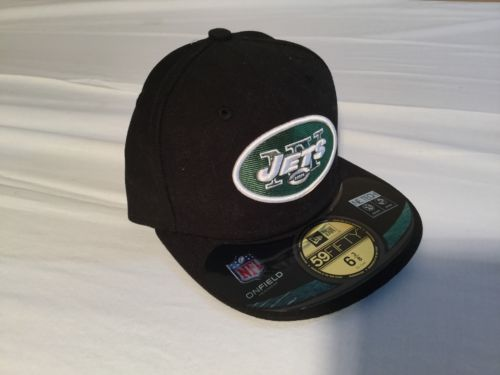 NWT NFL New York Jets New Era 59Fifty Black Cap, Hat Size 6 3/8 51cm