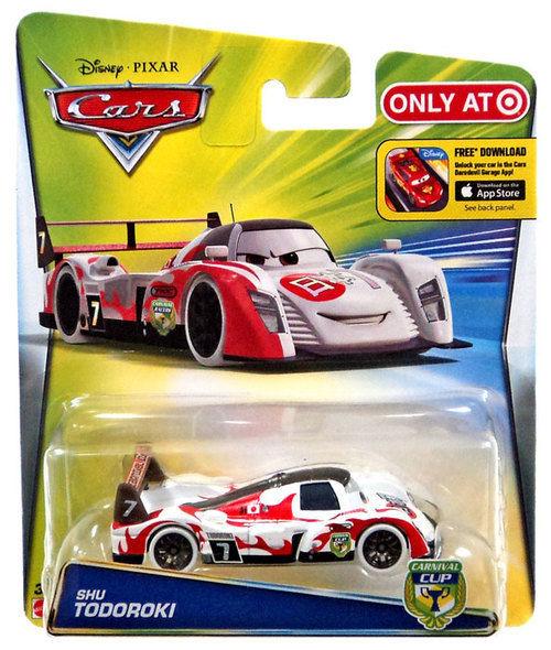 Disney Pixar CARS Carnival Cup Shu Todoroki Diecast 1:55 Japanese Race Car Eyes