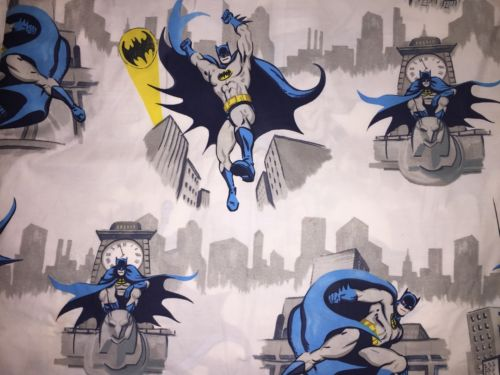 NEW! Pottery Barn Kids BATMAN CITYSCAPE Gotham Duvet Cover TWIN 100% Cotton