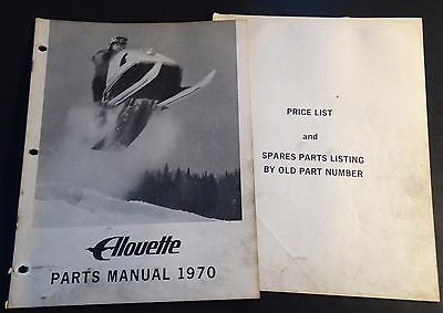 VINTAGE 1970 ALOUETTE SNOWMOBILE PARTS MANUAL 24 PAGES  (930)