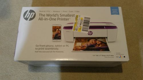 HP DeskJet 3752 Wireless Print Scan Copy ~ IN BOX BRAND NEW