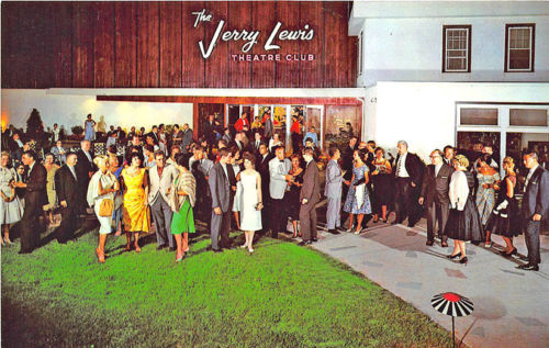 Loch Sheldrake NY The Jerry Lewis Theatre Club Postcard