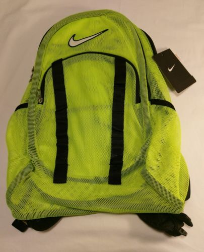 NIKE MESH BACKPACK TRANSPARENT BRASILIA 7 BA5077-710 NWT volt