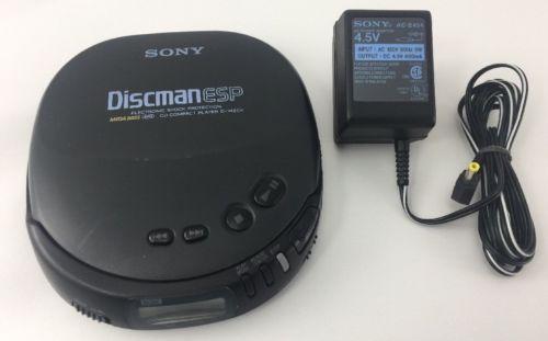 Sony Discman ESP CD Compact Player D-242CK Mega Bass Walkman w/ Wall Plug