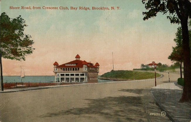 Old Postcard - Shore Road From Crescent Club Bay Ridge Brooklyn NY