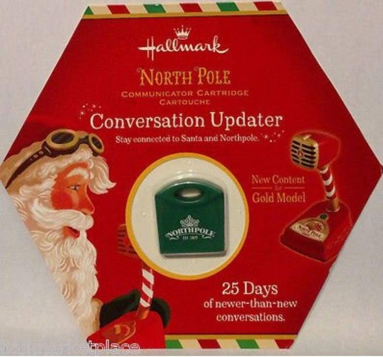 Hallmark North Pole Communicator Cartridge CONVERSATION UPDATER NIP