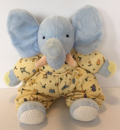 Carters John Lennon Collection Real Love Blue Elephant Rattle Plush Lovey Toy