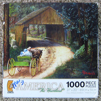 Ceaco Dogwood Sunday Jigsaw Puzzle J F Policky 1000 Pieces Complete USA