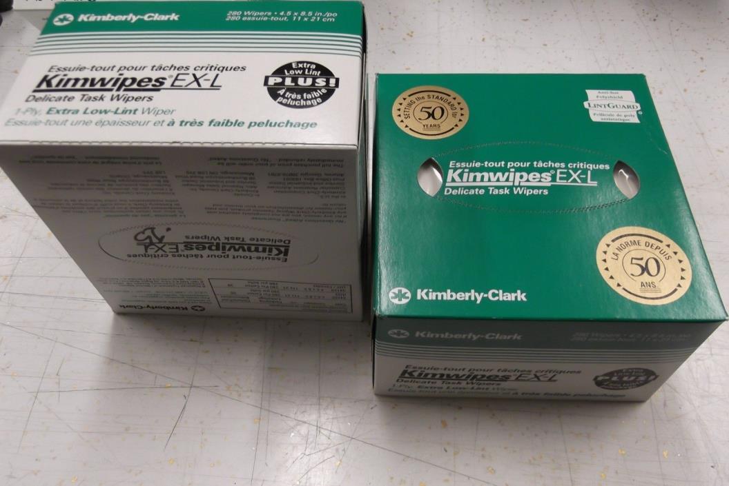 KIMTECH KIMWIPES Kim Wipes LINTFREE Cloth Task 2 Boxes of 280 KIMBERLY CLARK