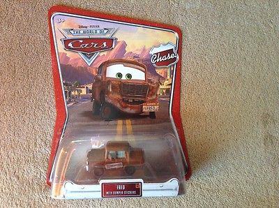 Disney Pixar Cars Chase Fred w/ Bumper Stickers Mattel