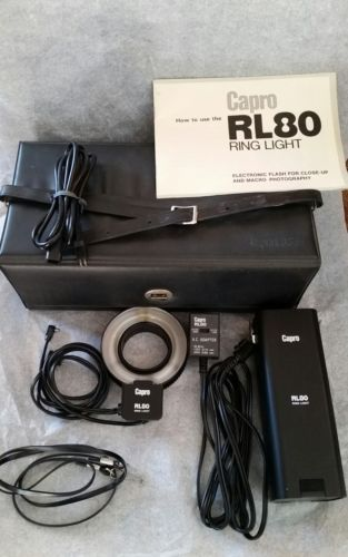 Capro RL 80 Ring Light Flash with Case
