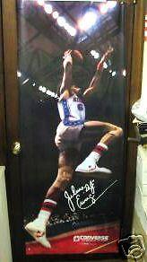 Dr J Poster JULIUS ERVING converse sneakers Vintage Door size 1979  2' x 6' (x