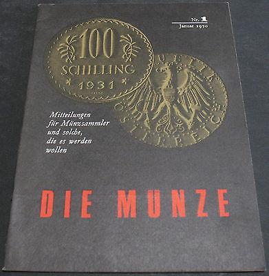 Vintage - Die Munze Nr. 1 January 1970 Berlin Munzensammler Informationen Scarce