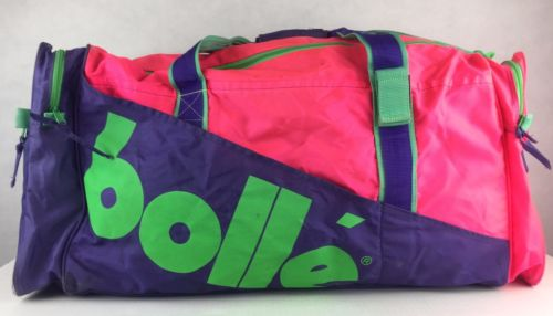 AWESOME VINTAGE NEON 90'S BOLLE TRAVEL ~ DUFFLE BAG SAVED BY THE BELL, FRESH P