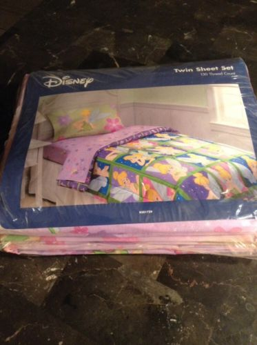 Disney Tinker Bell Vintage Twin Sheet Set Complete New!