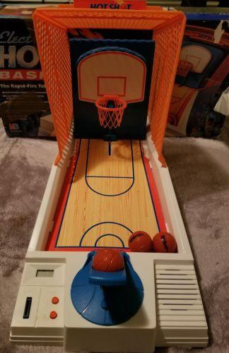 RARE! Milton Bradley Electronic Hot Shot Basketball (1990)  In Box!