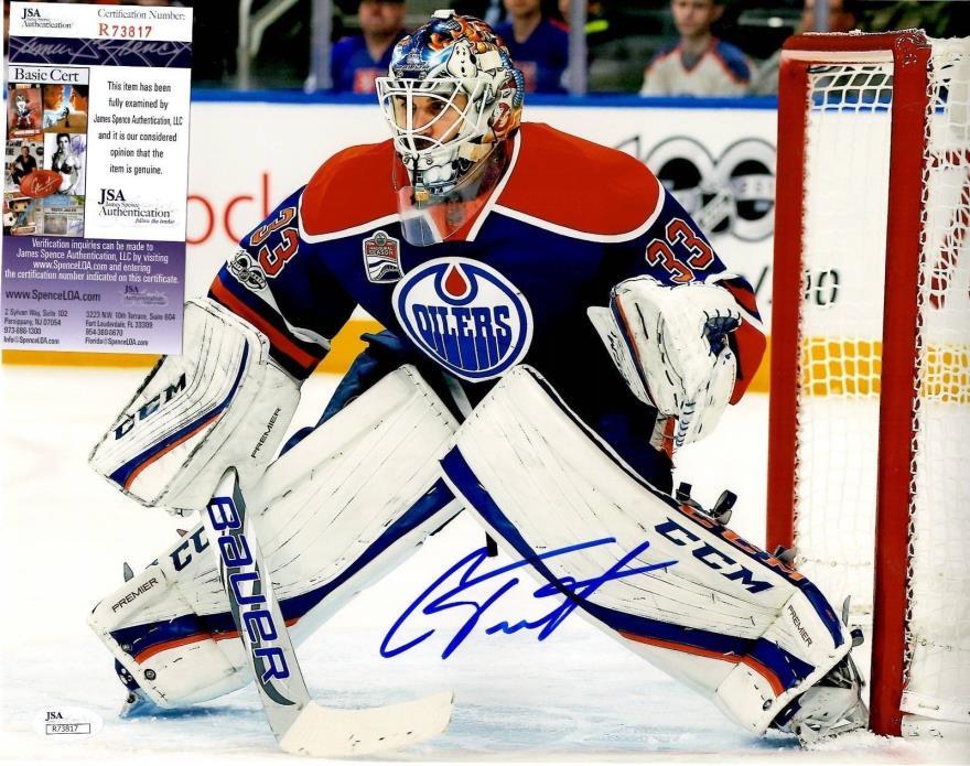 Cam Talbot Signed 11x14 w/ JSA COA #R73817 Edmonton Oilers