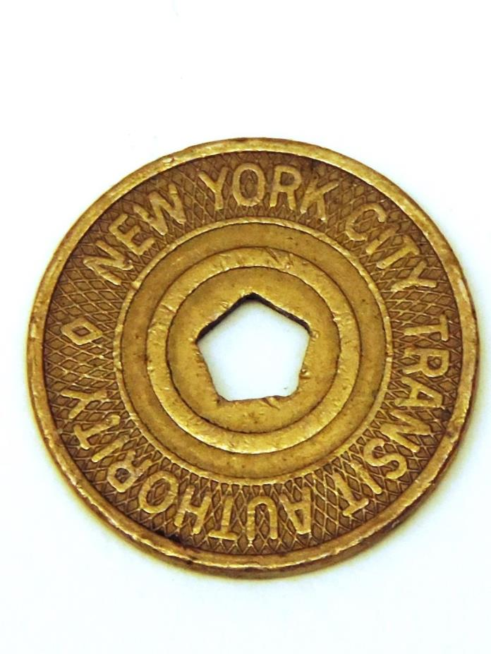 Vintage New York City Transit Authority Token 5 Boros Pentagon Design