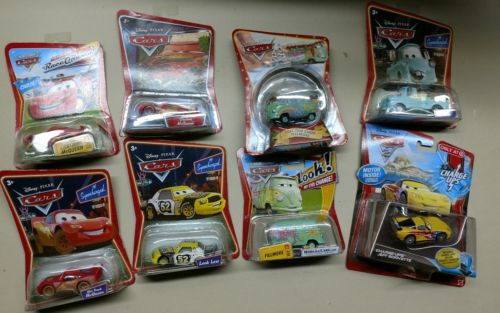 Disney Pixar Cars McQueen Filmore mater Jeff lot of 7