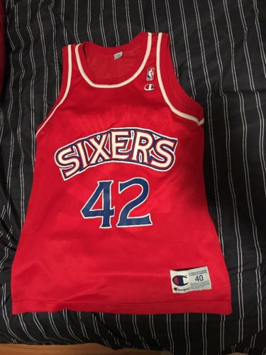 Vintage NBA Jerry stackhouse Philadelphia 76ers Champion jersey size 40 rare med