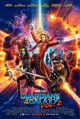 GUARDIANS OF THE GALAXY VOL. 2 movie poster replica magnet - new!